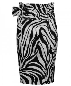 This zebra print skirt will look great paired with a white shirt. Forever 21 $17.80