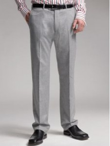 These grey pants will go great with any button down shirt.  Banana Republic $198.00