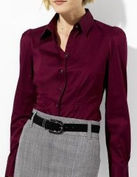 This classic button down shirt will go with either pants or a skirt. Banana Republic $59.00