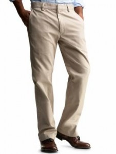 Khaki pants are always a winner for the work place.  Gap $44.50