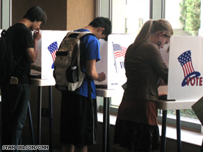 College students at the Polls.  www.cnn.com