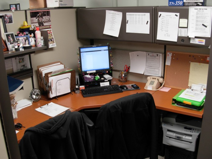 Mike's work space.