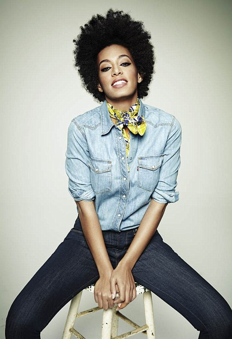 Solange Knowles's natural hair