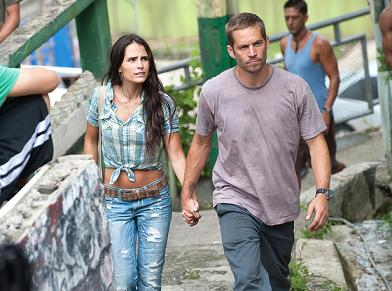 (Universal Pictures, Fast Five) Jordana Brewster and Pual Walker (photo from www.eonline.com)