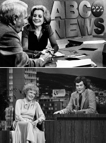 Barbara Walters and David Letterman (photos from The Huffington Post and The New York Times