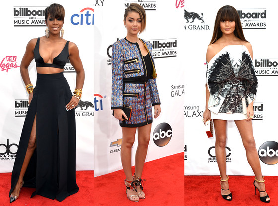 Kelly Rowland (left), Sarah Hyland (middle), Chrissy Teigen (right) (photo from www.eonline.com Frazer Harrison.Getty Images)
