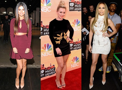 Left to right, Selena Gomez, Hilary Duff, Jennifer Lopez (photo from www.eonline.com) Kevin Mazur/Getty Images for Clear Channel, Jason Merritt/Getty Images for Clear Channel, Larry Busacca/NBC/NBCU Photo Bank