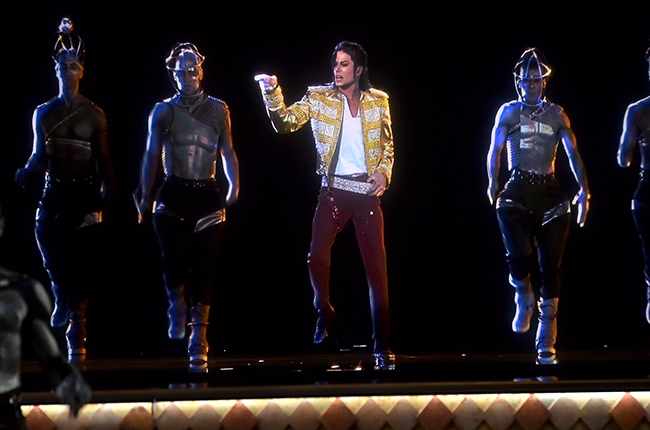 The Michael Jackson hologram performance (photo from www.billboard.com Kevin Winter/Billboard Awards 2014/Getty Images