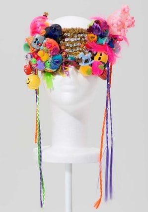 "A mask from Miley Cyrus's ""Dirty Hippie"" collection."