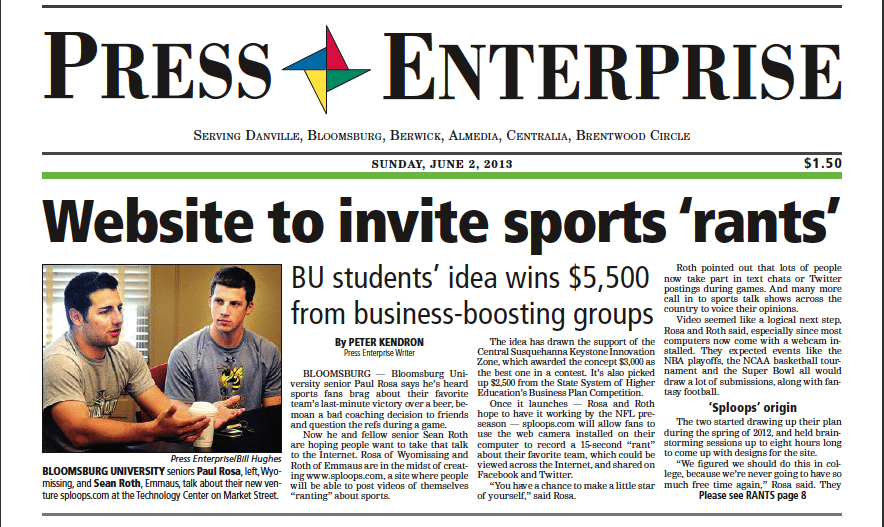 Rosa and Roth graced the cover of the Press Enterprise for the efforts.