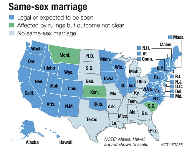 which states offer same sex marriage