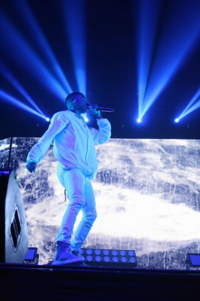 Big Sean rocked the Nelson Field House for over an hour.