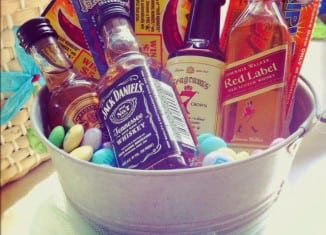 Whats in your basket bunow bloomsburg alcohol easter basket negle Images