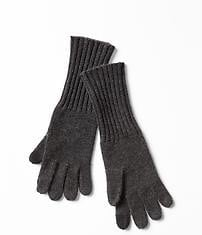 Cashmere gloves - charcoal heather