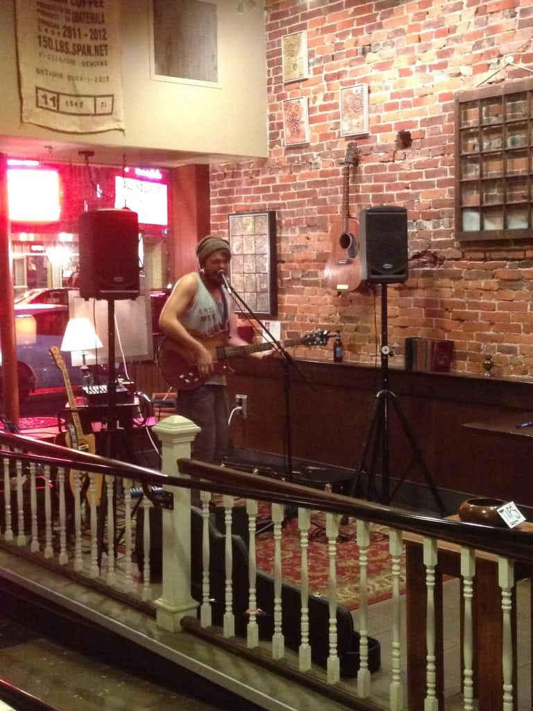 Nick Rusnock performs at the Fog & Flame during October's First Friday event