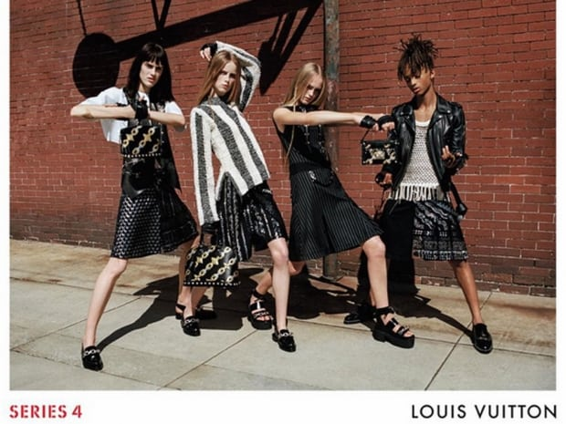 Jaden Smith and models photographed by Bruce Weber for the Louis Vuitton SS16 Ad Campaign.