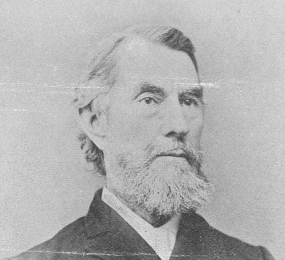 A photograph of Reverend Jonathan Rose Dimm (1830-1920), pastor of St. Matthew from 1859 to 1867. When Henry Carver opened a school in town in 1866, Dimm spent his last year in Bloomsburg working with Carver as a professor teaching Ancient Languages, in addition to his pastoral duties at the church. He later served as the fifth president of what is now Susquehanna University.