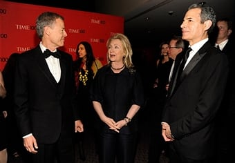 Time Warner CEO Jeffrey Bewkes, United States Secretary of State Hillary Clinton and TIME managing editor Rick Stengel attend the TIME 100 Gala celebrating TIME'S 100 Most Infuential People In The World
