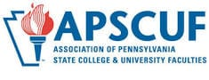 APSCUF or Association of Pennsylvania State College & University Faculties logo