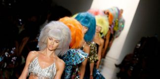 Models walk the runway for Jeremy Scott ss20 Collection.