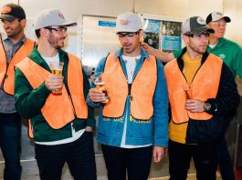 Jonas Brothers at Coors Light Brewery.