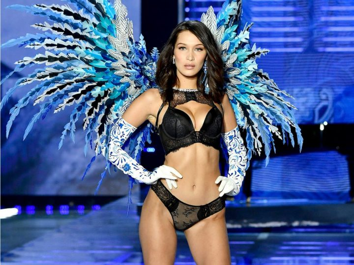 Bella Hadid walking in the VSFS