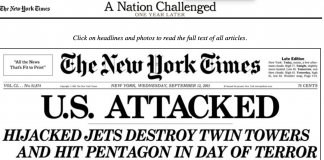 NYT 9.12 Front Page